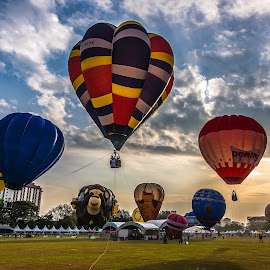 Hot Air Balloon by Lim Keng - City,  Street & Park  City Parks