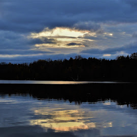 by Kathy Woods Booth - Landscapes Cloud Formations ( clouds, peaceful, calmness, waterscape )