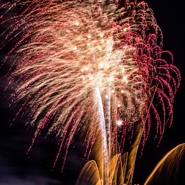 A moment in time by Poppy Stevenson - Abstract Fire & Fireworks ( malta, silhouette, fireworks, fire works,  )