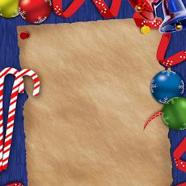 Christmas Note by Shun Rodnie Ablazo - Illustration Holiday ( notepad, bells, christmas, christmas tree, christmas balls )