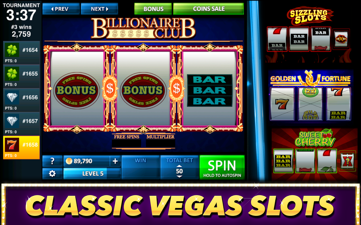 Best Classic Vegas Slots Game Screenshot 3