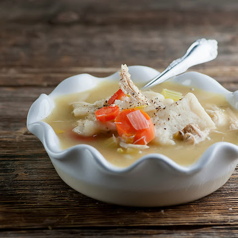 Chicken Slippery Noodle Soup