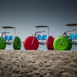 Sea Trikes by Ynon Francisco - Transportation Other ( sand, dunes, transport, colors, zambales, sea, beach, fun, philippines )