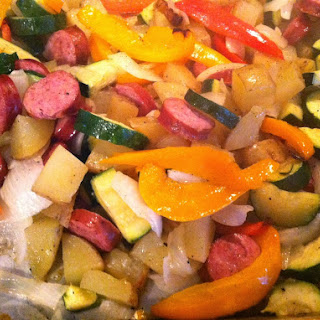 Oven-Roasted Sausage and Vegetables
