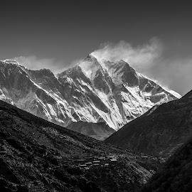 The Giants by Madhujith Venkatakrishna - Black & White Landscapes