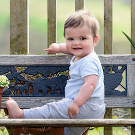 Jack the lad by Stephen Crawford - Babies & Children Children Candids ( jack, happy, wean, candid, teeth, posing, decking, smiling, lad,  )