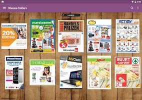 Screenshot of Reclamefolder - Folders Online