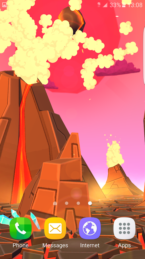 Volcano 3D Live Wallpaper Screenshot 5