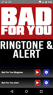 Bad For You Ringtone and Alert - screenshot