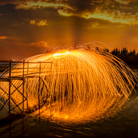 Circle of Fire by Ade Irgha - Abstract Light Painting