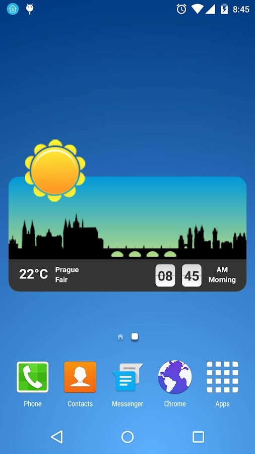 Metro Clock Widget Screenshot 1