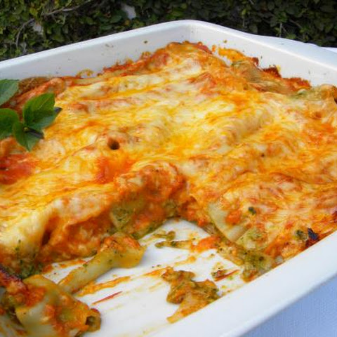 Chicken and Spinach Cannelloni