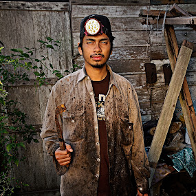 Rubber tapper by Azmil Omar - People Portraits of Men ( boy, people, man )