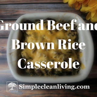 Ground Beef and Brown Rice Casserole