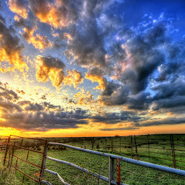 No Cows by Derrill Grabenstein - Landscapes Sunsets & Sunrises
