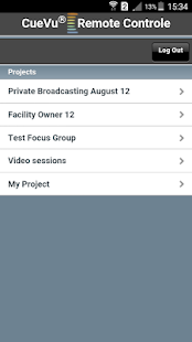 CueVu Remote Control App - screenshot