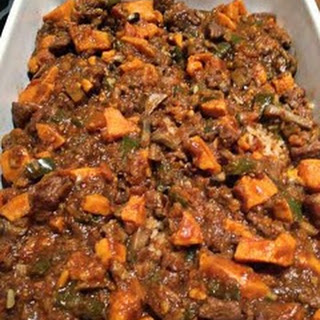 Lamb Curried Casserole with Sweet Potatoes
