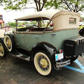 Ford Automobile 1 by Yvonne Collins - Transportation Automobiles ( street, ford, restaurant, photography, city )