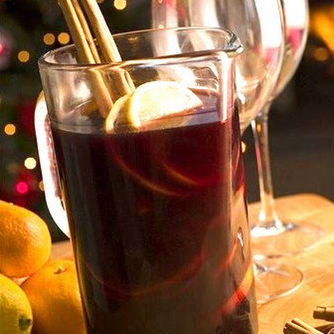 Mulled wine with cognac in German