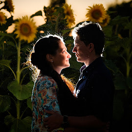 Moment by Arici Ciprian Claudiu - People Couples ( color, sun flower, couple, backlighting, portrait )