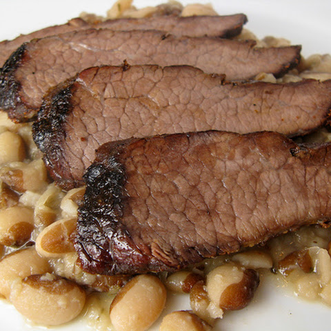 Roast Brisket with Melting Beans