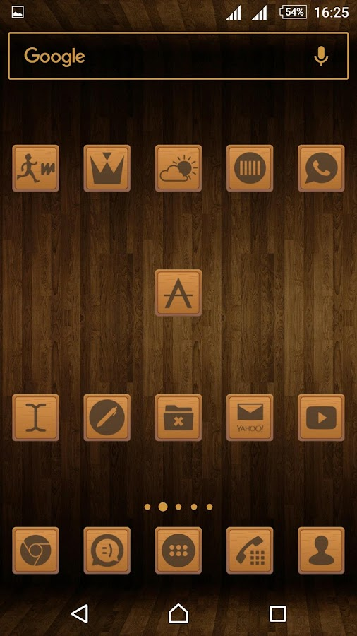 Wooden Icons Brown Screenshot 2