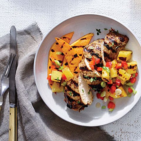 Jerk Chicken with Grilled Pineapple Salsa