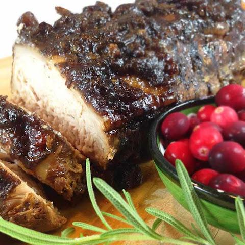 Slow Cooker Cranberry Crusted Dijon Pork Roast