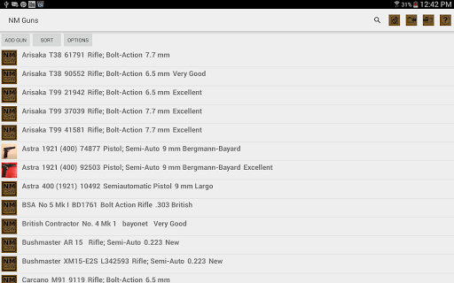 NM Gun Collecting Software - screenshot