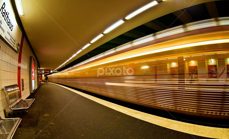 U-Bahn by Carl Sieswono Purwanto - Transportation Trains ( Urban, City, Lifestyle )