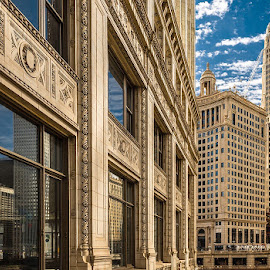 Wrigley Building by Jimmy James - Buildings & Architecture Office Buildings & Hotels ( clouds, blue skies, cityscape, chicago )