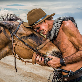 MULE by Dmitry Demchenko - People Couples ( mule, nature, dmitry demchenko, dimagraphy, man, portrait, animal )