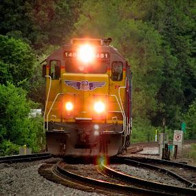 Mini Wings by Rick Covert - Transportation Trains ( railroad, locomotive, evening, trains, arkansas )