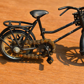toy bike by Dean Moriarty - Artistic Objects Toys ( cycle, bike, chain, rusty, alone, black )