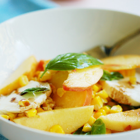 Peach & Barbecued Corn Salad