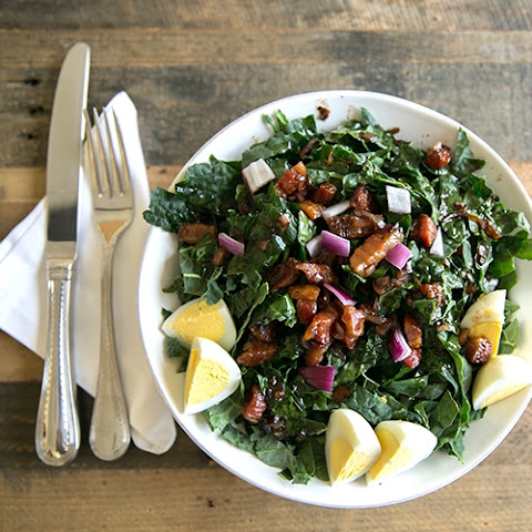 Warm Pancetta, Egg and Kale Salad