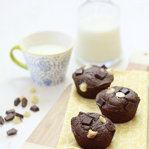Triple Chocolate Banana Bread Muffins