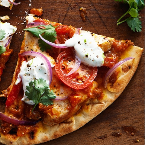 Madras Turkey Naan Pizza
