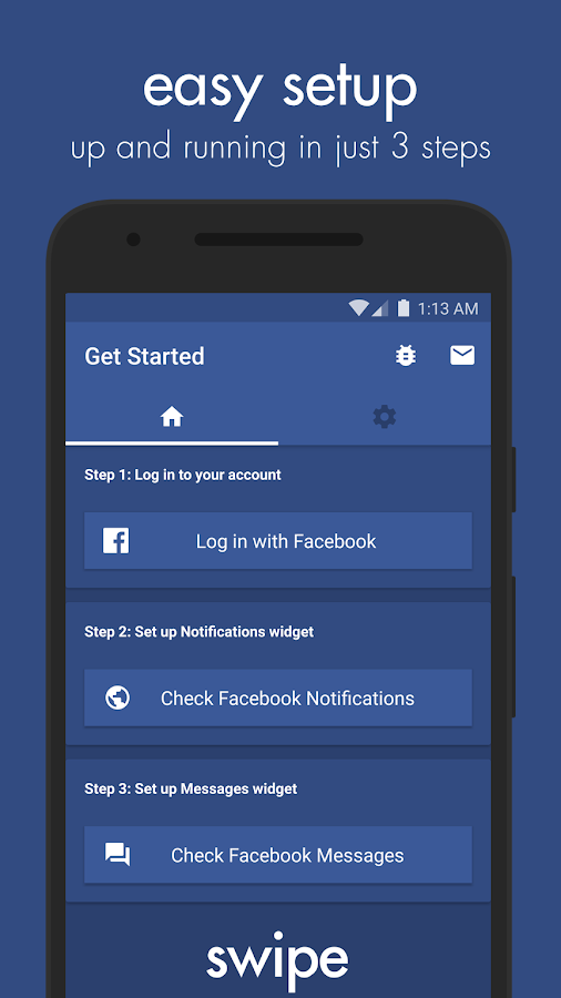 Swipe Widget for Facebook BETA Screenshot 2