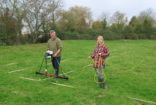 Earth resistance surveying in Somerset with a Geoscan Research RM15