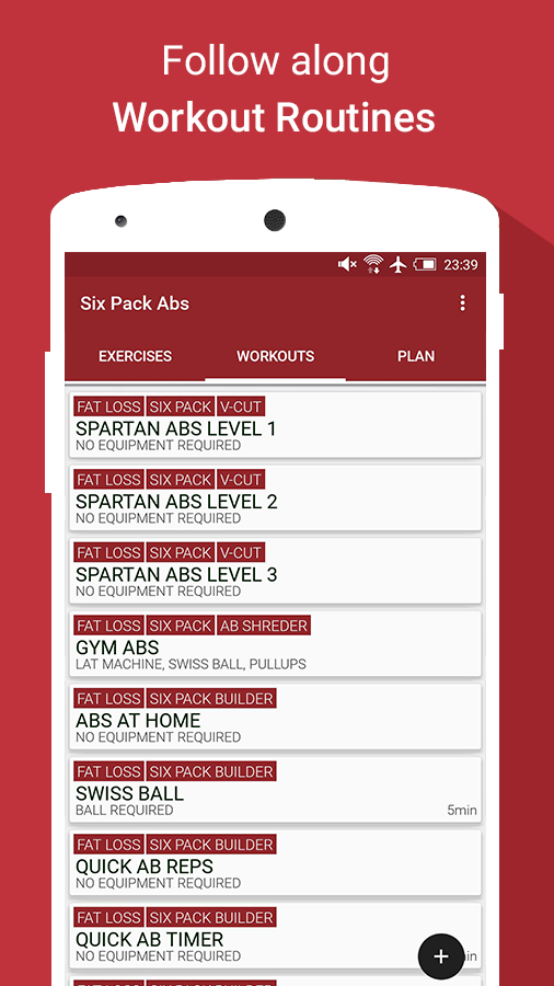 Abs Workouts & Exercises Pro Screenshot 1