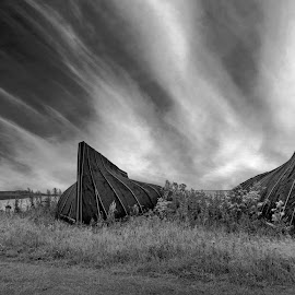 Boat Huts by Lee Sutton - Landscapes Cloud Formations