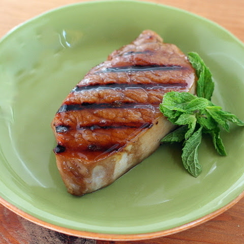 Grilled Sweet Tea Glazed Pork Chops