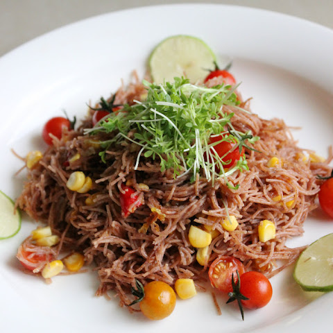Ragi Vermicelli with Spicy Peanut Dressing