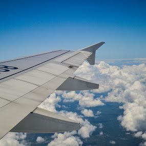 above the sky by Gi Masangya - Transportation Airplanes ( clouds, nikon photography, sky, nikon d3100, 2013, airplane wing, airplane, transportation, travel, nikon, philippines )