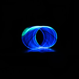 Illuminated! by Kartyk A - Abstract Light Painting ( abstract, light painting, blue, long exposure, light )