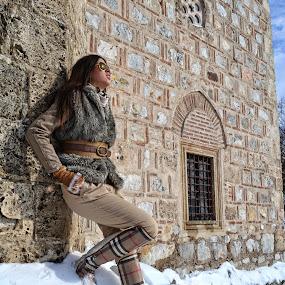 Girl on snow by Pavle Randjelovic - People Portraits of Women ( girl, furs, nis, serbia, sunny, beautiful, snow, nice weather )