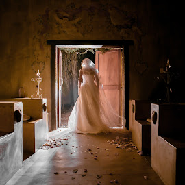 Doorway by Lodewyk W Goosen (LWG Photo) - Wedding Bride ( wedding photography, wedding photographers, wedding day, weddings, wedding, brides, wedding dress, wedding photographer, bride )