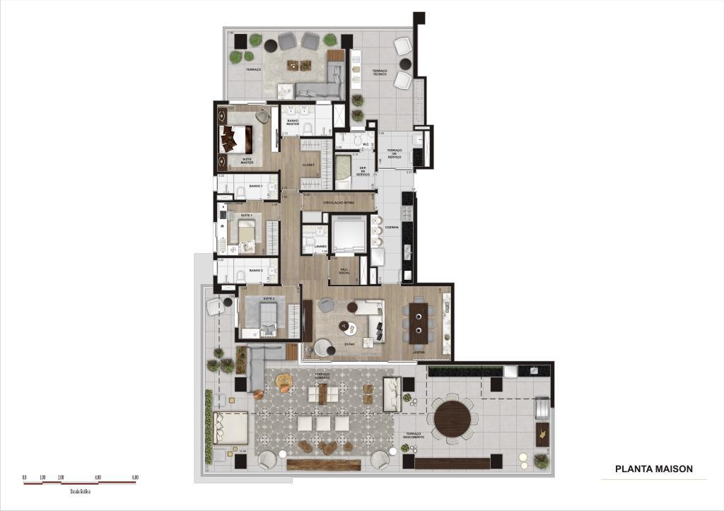 Planta Maison - 316 m²