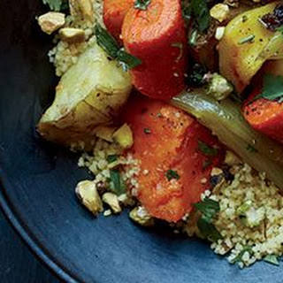 Roasted Winter Vegetables with Saffron Couscous